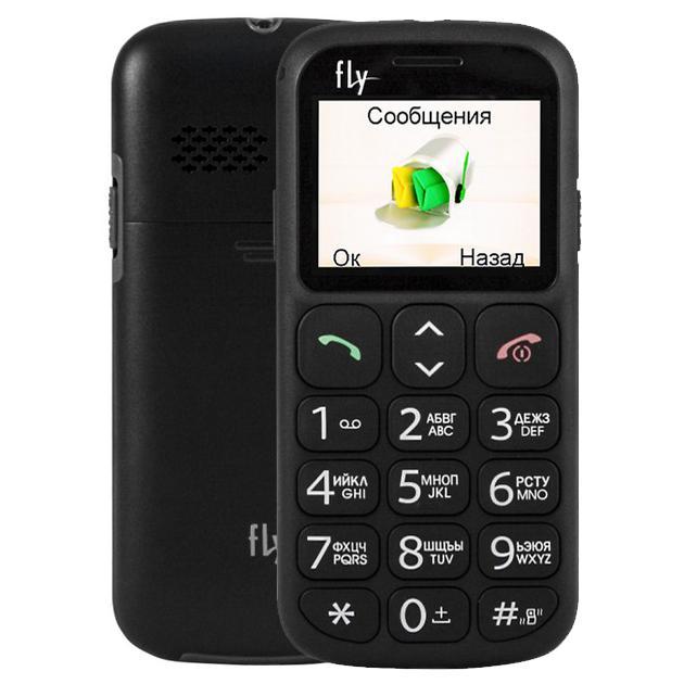 Мобильный телефон Fly Ezzy 7+ Черный мобильный телефон fly ff281 черный 2 8 32 гб
