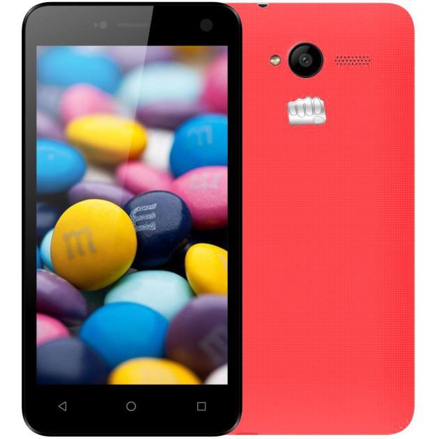 Смартфон Micromax Bolt Q341 8Гб, Красный micromax q392 8гб серый dual sim 3g