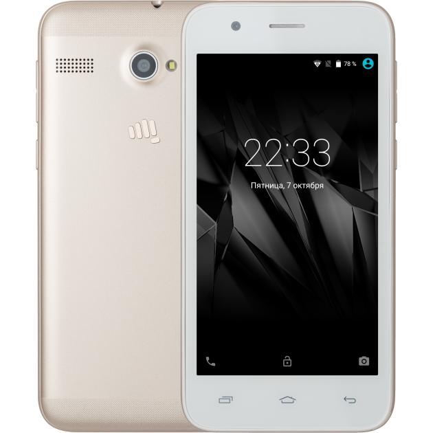 Смартфон Micromax Q346 Lite Бело-золотой мобильный телефон micromax bolt q346 lite синий