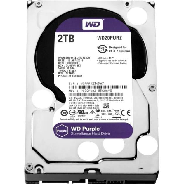 "Western Digital Purple WD20PURX 1.8"" HDD"