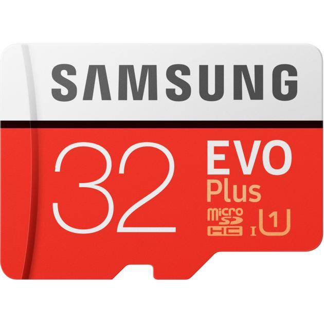 Карта памяти Samsung microSDHC EVO Plus 95MB/s + SD adapter 32Гб ov 64gb micro sd карты памяти карты class10 мобильный телефон карточки памяти
