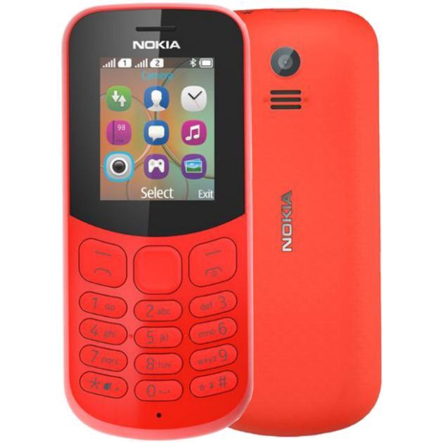 Мобильный телефон Nokia 130 2017 Красный, 2 SIM какой мобильник в районе 10 000 с 2 sim