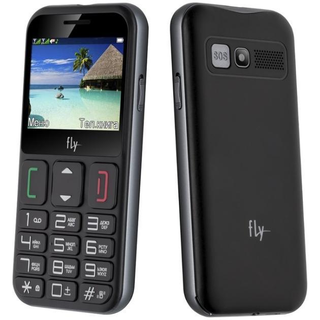 Мобильный телефон Fly Ezzy 9 Черный, 0.032Гб, 2 SIM мобильный телефон fly ff178 32mb black