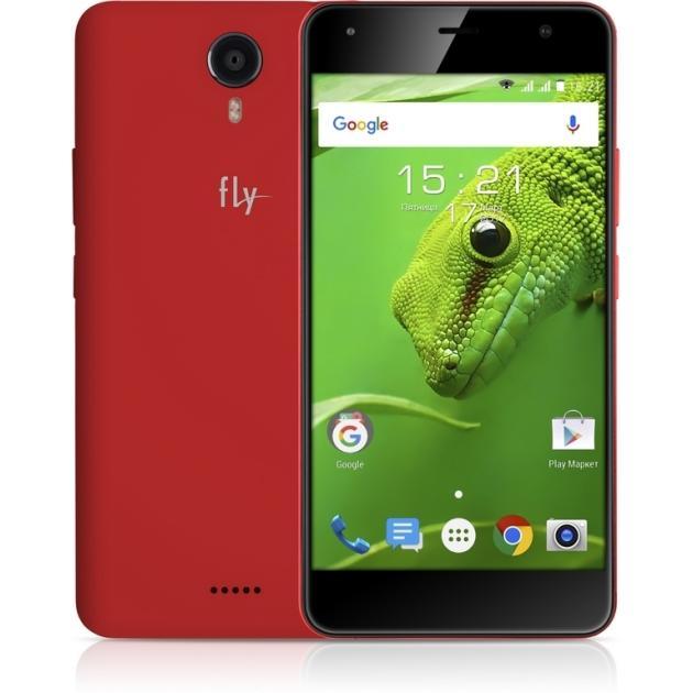 Смартфон Fly FS517 Cirrus 11 8Гб, Красный, Dual SIM, 4G LTE, 3G смартфон ginzzu rs93d 8гб черный dual sim 3g