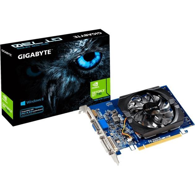 Gigabyte GeForce GT 730 2048Мб, DDR3, 902MHz, GV-N730D3-2GIV2.0