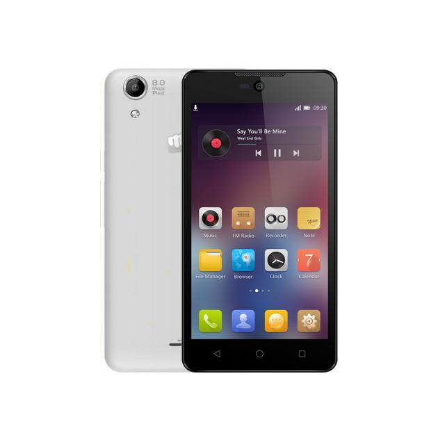 Смартфон Micromax Canvas Selfie 2 Q340 Белый чехол флип для micromax e311 canvas nitro 2 белый armorjacket