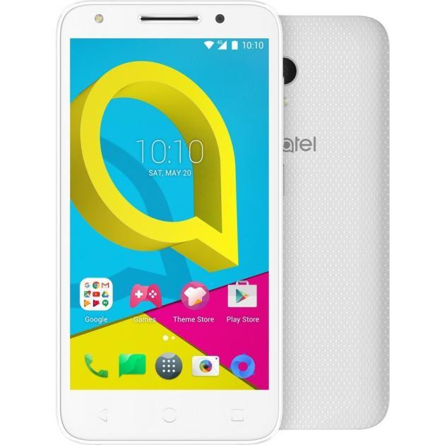Смартфон Alcatel 4047D U5 8Гб, Белый, Dual SIM, 3G смартфон ginzzu rs93d 8гб черный dual sim 3g