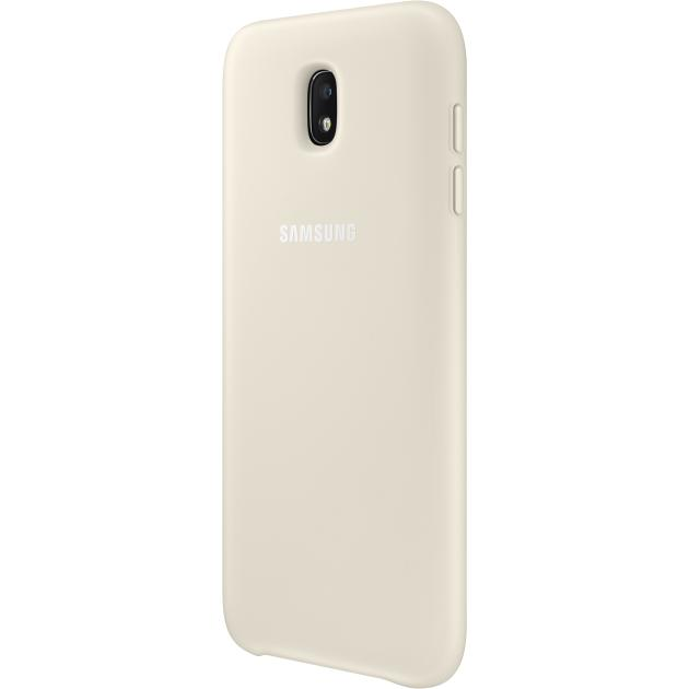 все цены на  Чехол Samsung Dual Layer Cover для Galaxy J7 2017 Золотой  онлайн