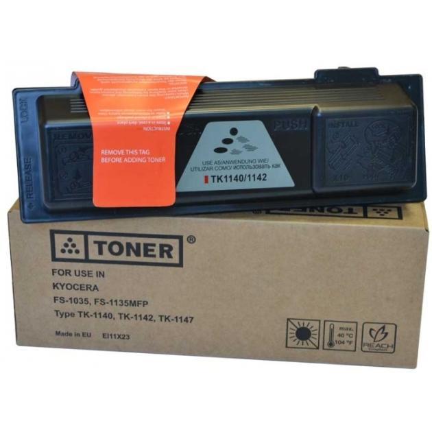 Картридж Elfotec TK-1140 для Kyocera FS-1035MFP DP/1135MFP Черный, Картридж лазерный, Тонер-картридж, Стандартная, нет kyocera tk 8325k черный тонер картридж стандартная нет
