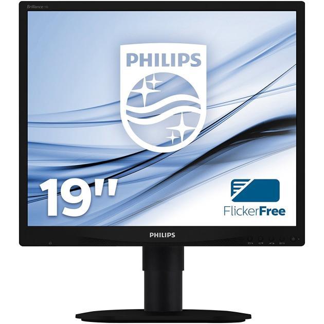 Монитор Philips 19S4QAB 19, Черный, DVI, 1280x1024 монитор 19 philips 19s4lsb5 tn led 1280x1024 5ms dvi vga