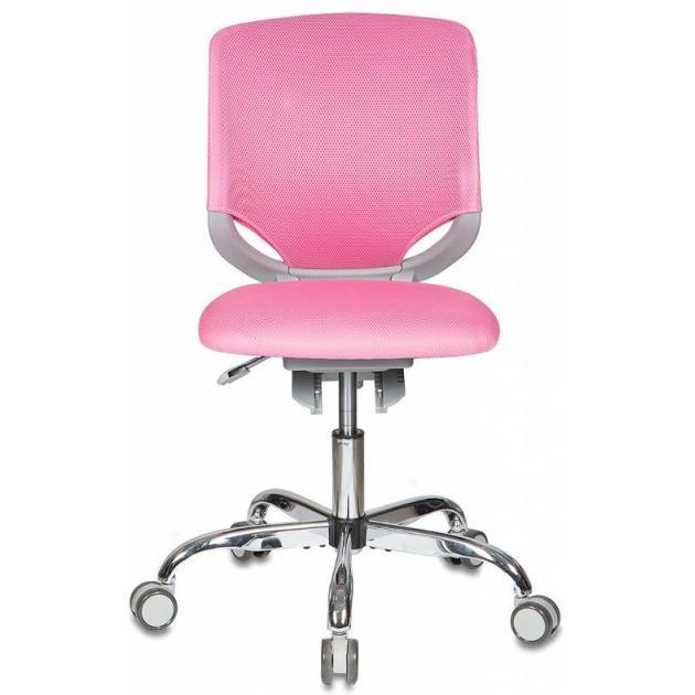 Купить со скидкой Кресло детское Бюрократ KD-7/TW-13A розовый TW-13A крестовина хром колеса серый пластик серый