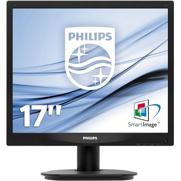 "Philips 17S4LSB 17"", Черный, DVI, 1280x1024"
