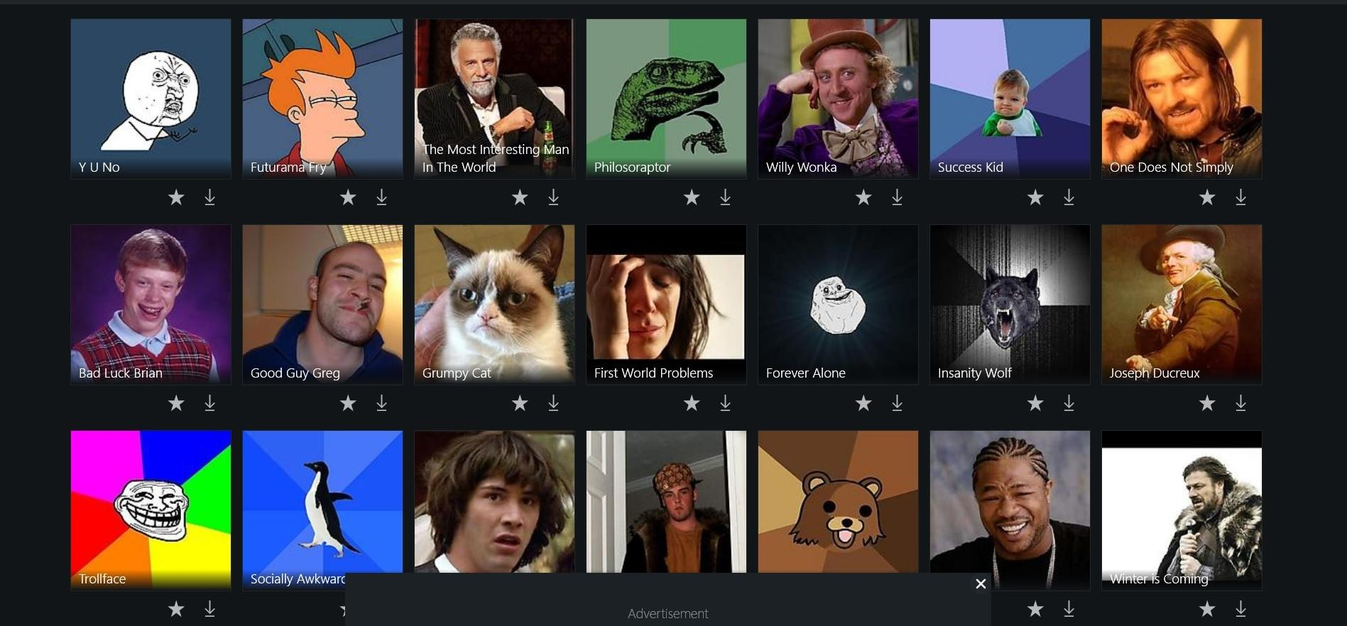 Приложение вашей мечты - генератор мемов для Windows 10