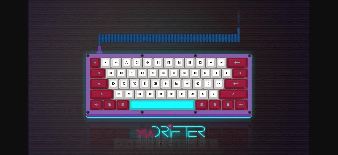 Клавиатура с иероглифами из Hyper Light Drifter