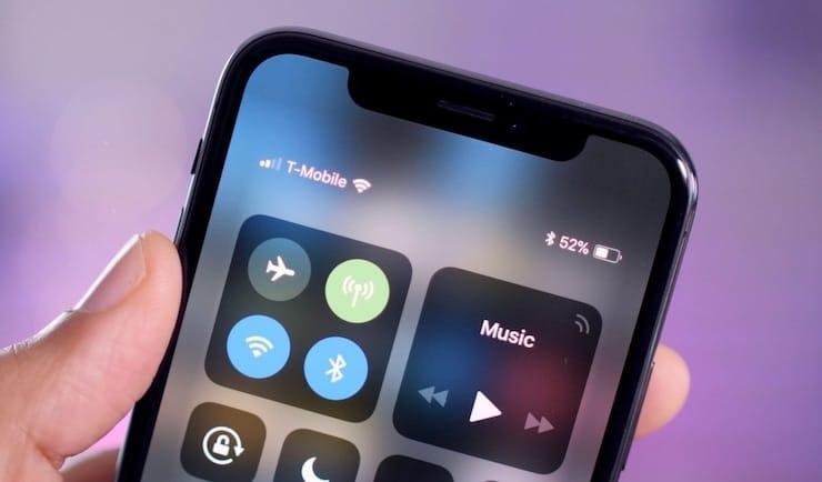 Как посмотреть процент заряда батареи на iPhone X