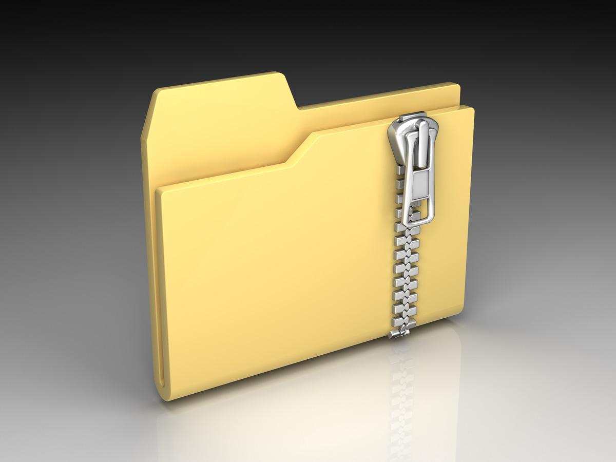 Как заархивировать папку для отправки по почте?
