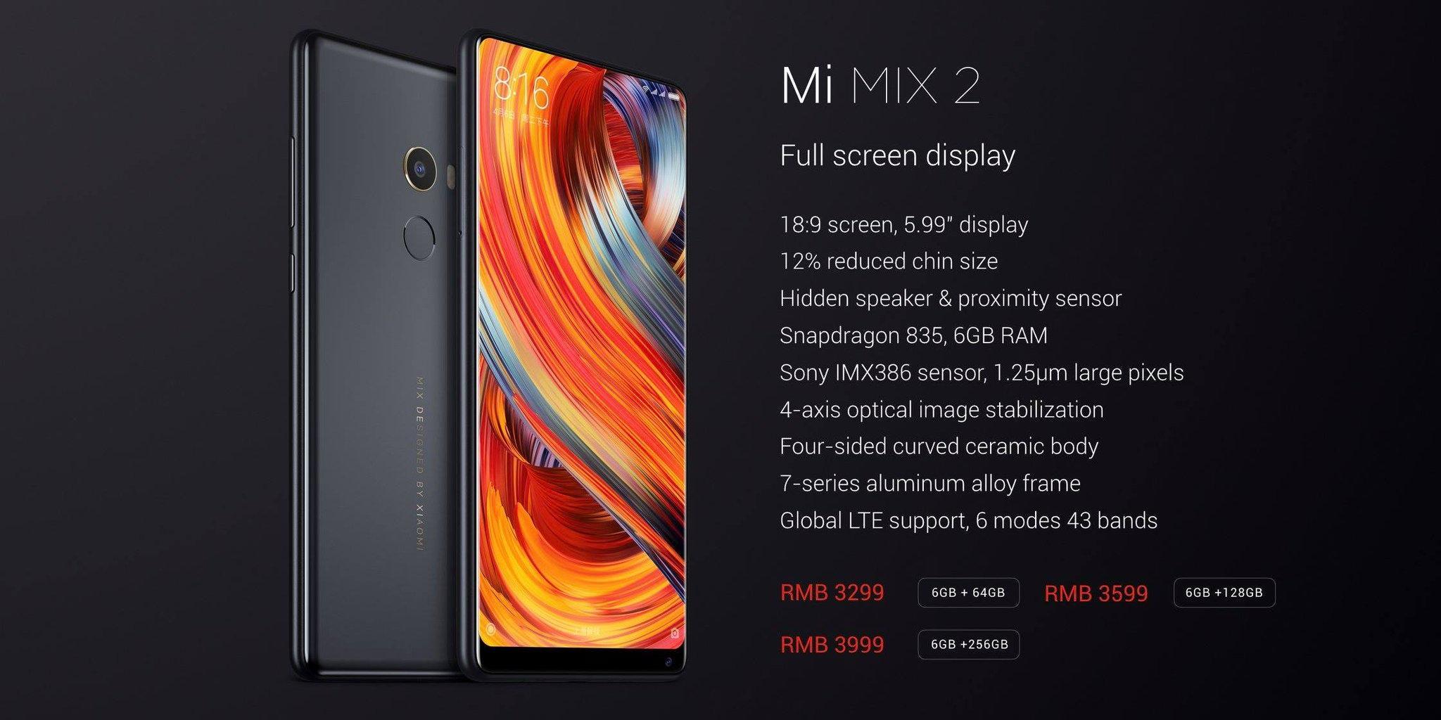 Первый взгляд на Xiaomi Mi Mix 2
