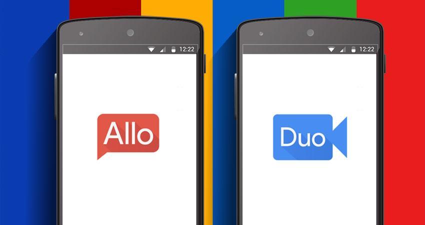 Популярные приложение Google Allo и Duo