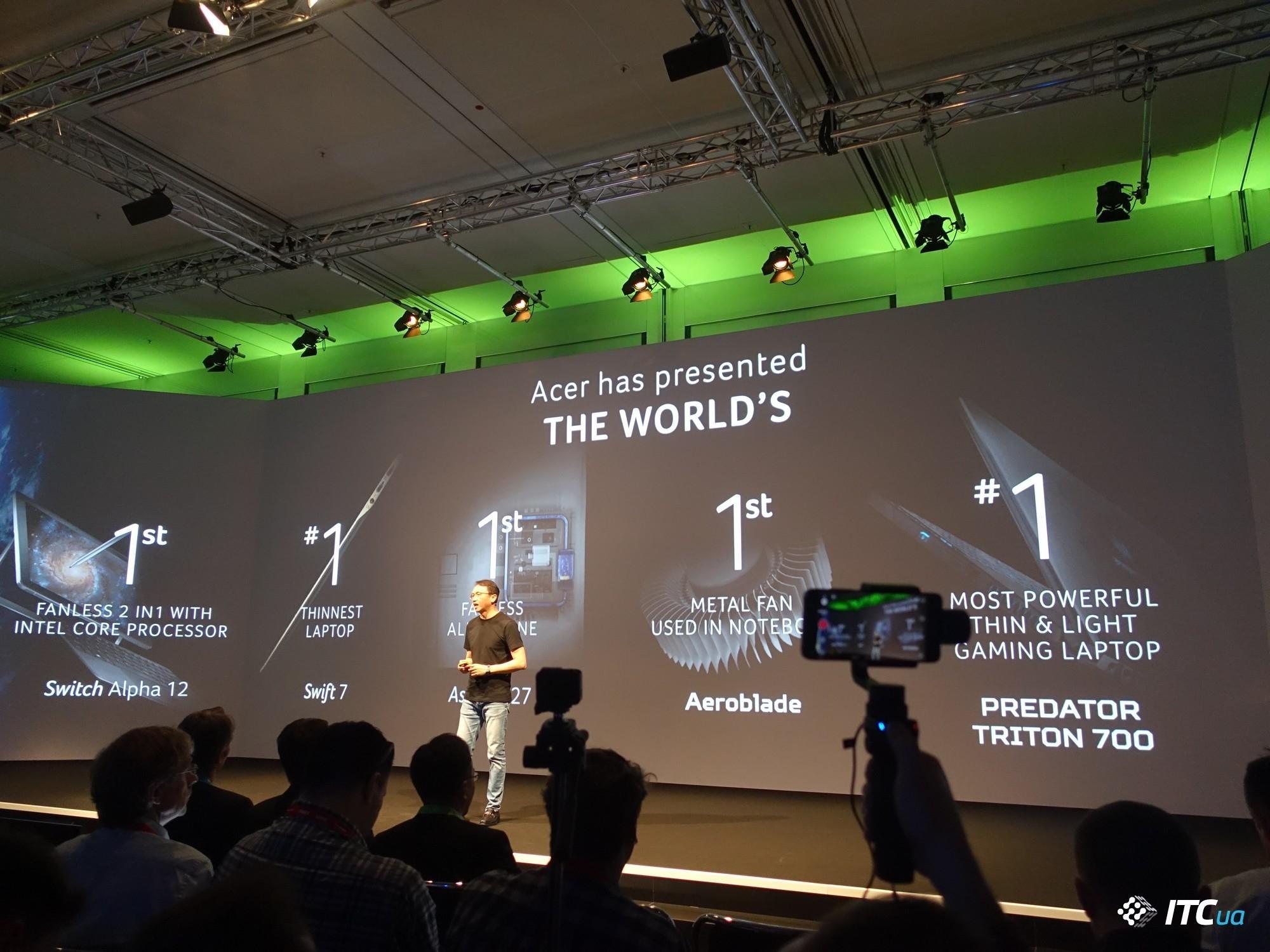 Acer представляет новинки на IFA 2017