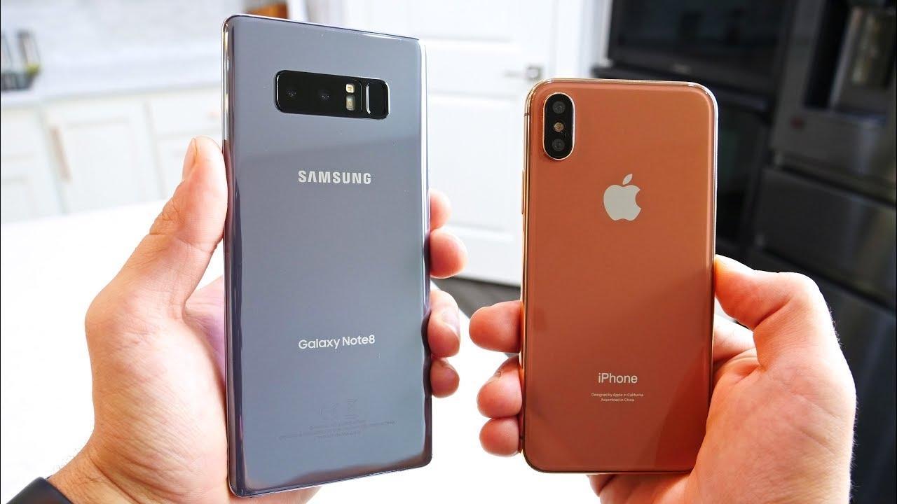 iPhone X против Note 8: скорость LTE