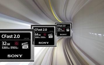 Новые CFast карты памяти Sony