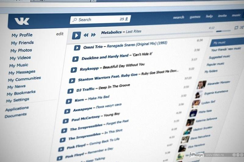 «ВКонтакте» установила лимит на прослушивание музыки с компьютера