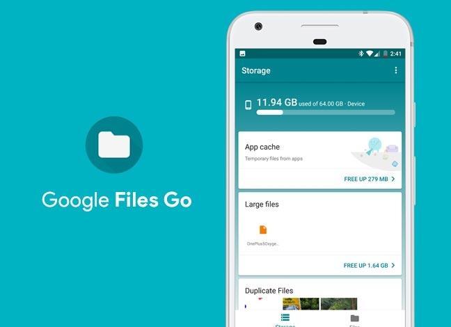 Google Files Go позволит решить проблемы с памятью