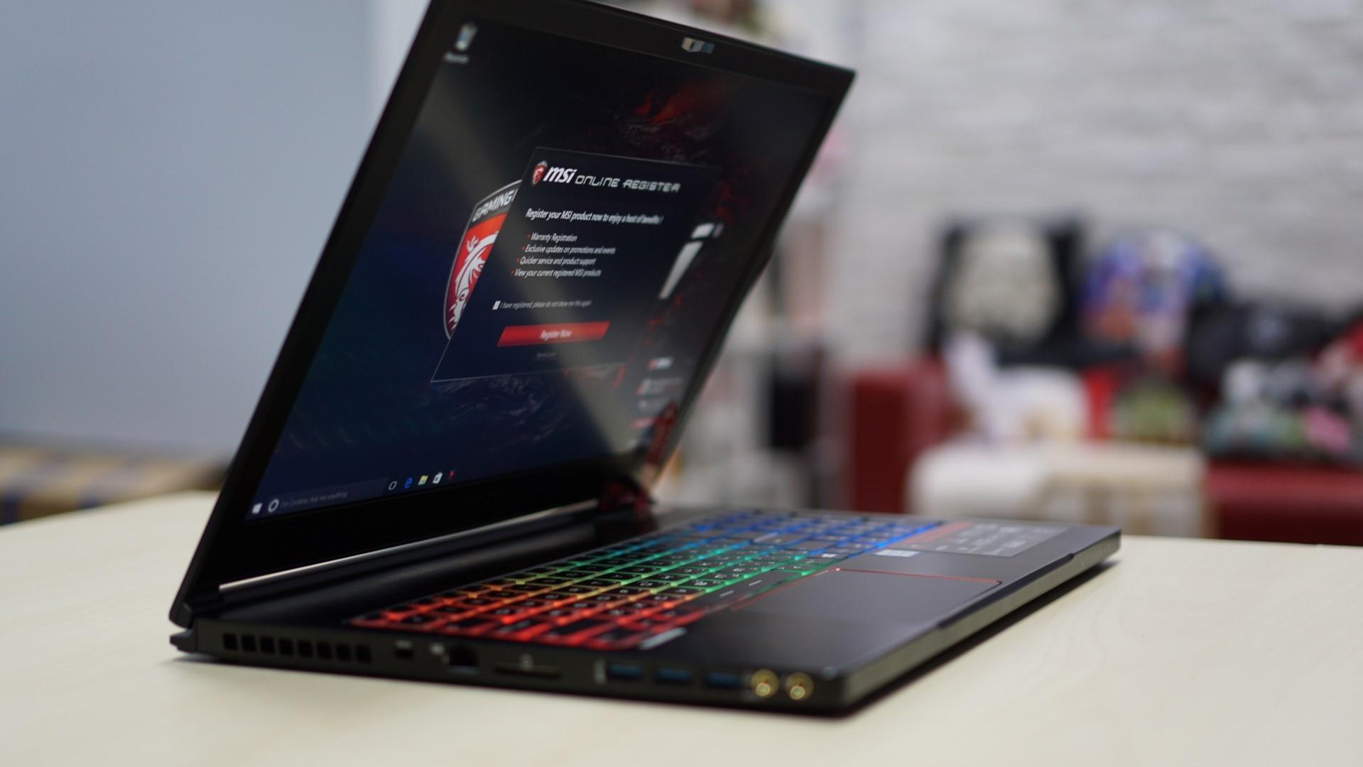 MSI анонсировали тонкие и лёгкие VR-ready ноутбуки