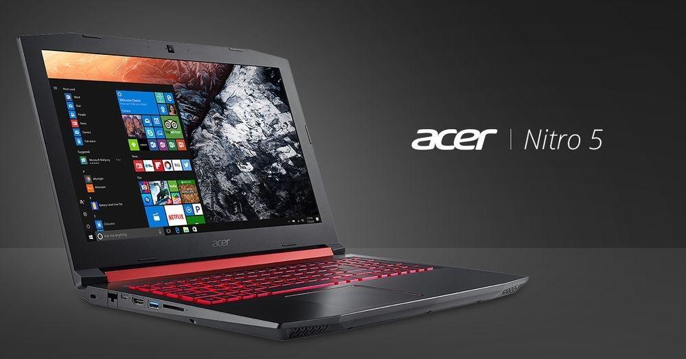 Acer Nitro 5 – играем экономно