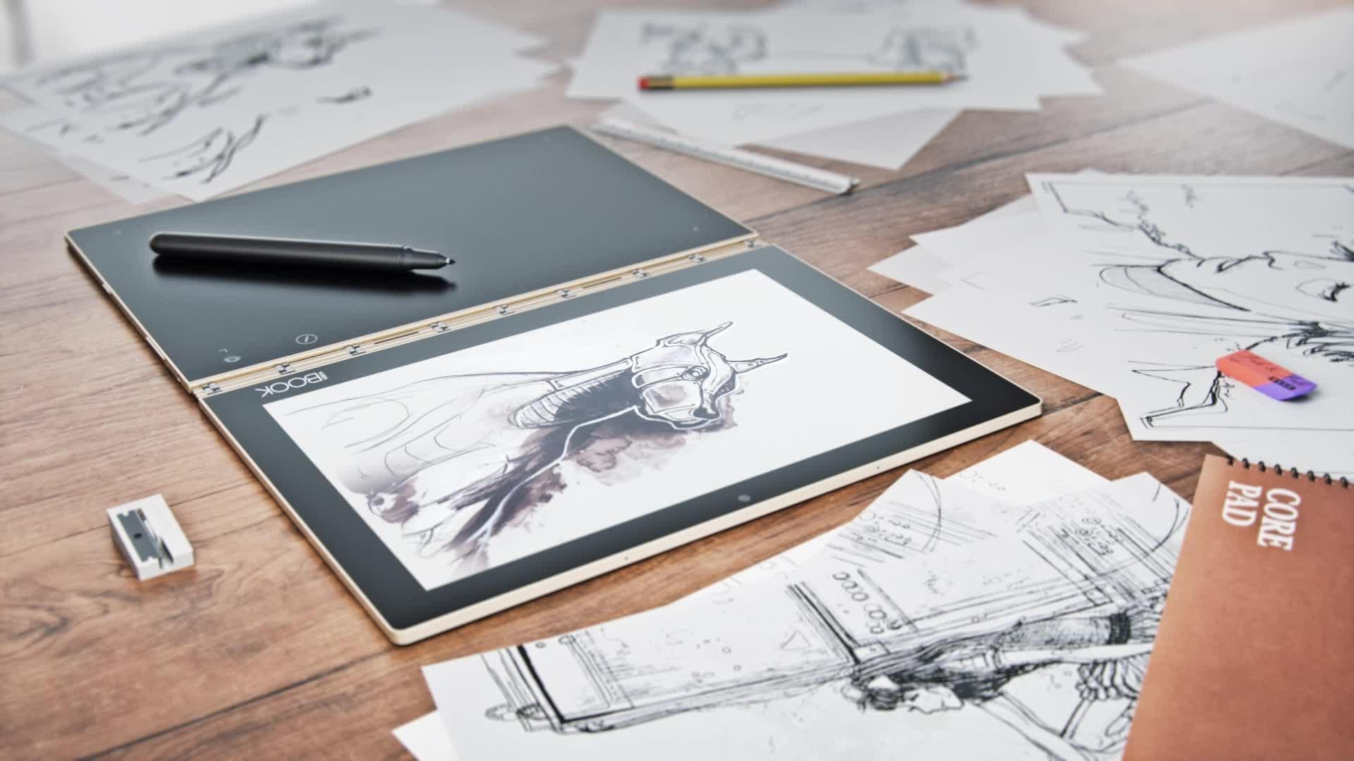Lenovo Yoga Book YB1-X91L: размеры планшета, функционал ноутбука