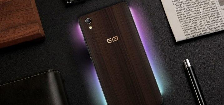 Крышка из дерева для телефона – оригинальный ход от компании Elephone
