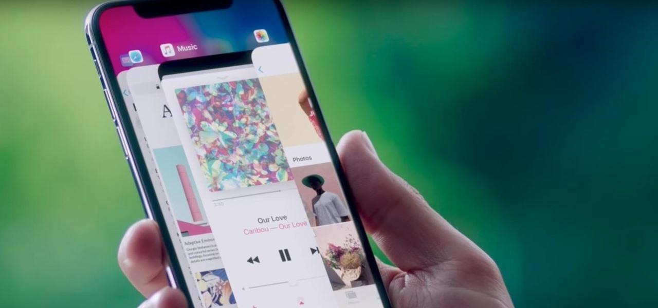 Видео смены приложений iPhone X