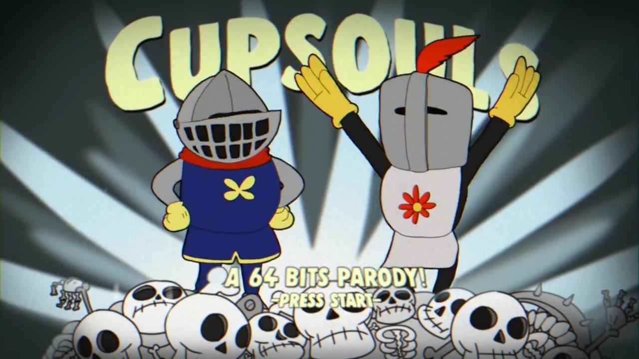 Появление гибрида игр Dark Souls и Cuphead