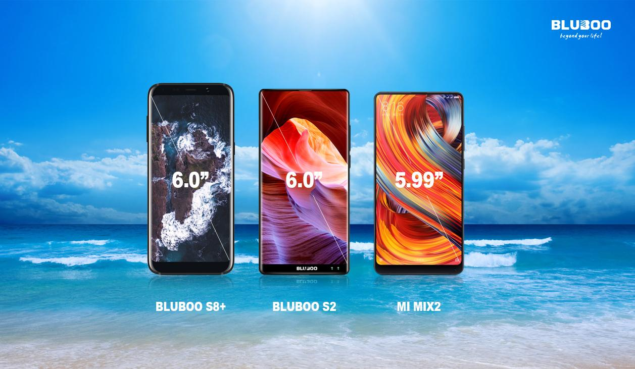 Bluboo S2 и S8+ безрамочные конкуренты Xiaomi Mi Mix 2