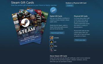 Электронные подарочные карты Steam