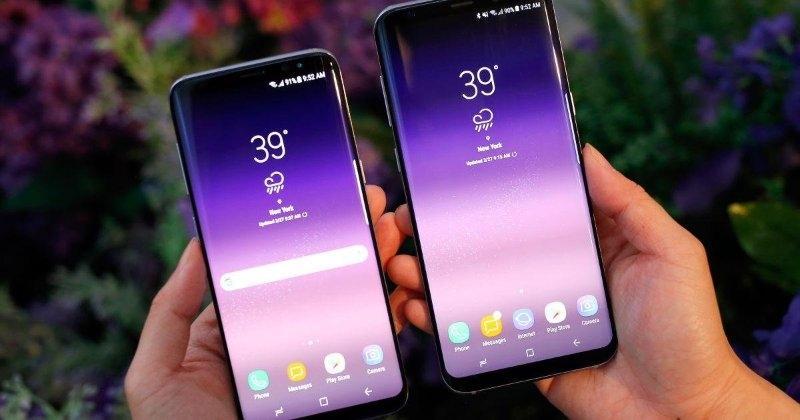 Samsung Galaхy S9 в фиолетовом цвете