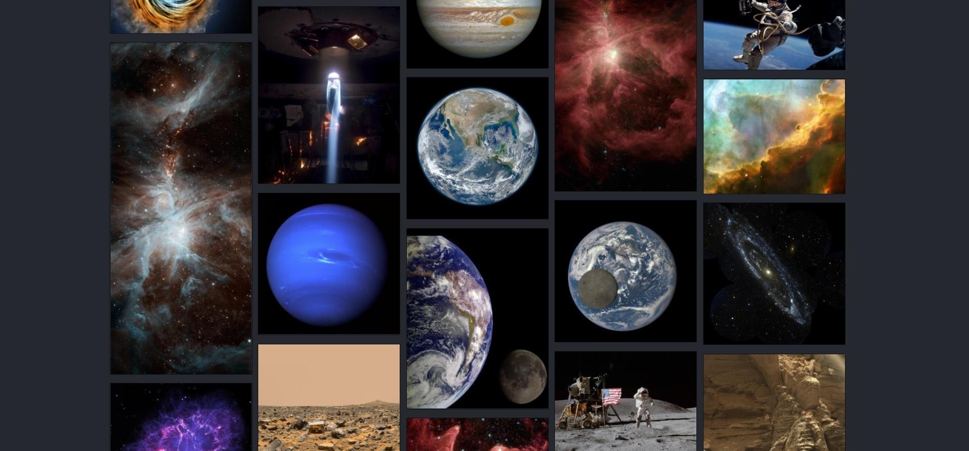 5 сайтов NASA