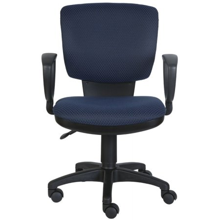 Кресло Бюрократ CH-626AXSN/V-03-1 синий ромбик черный V-03-1