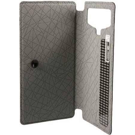 """Универсальный чехол Book-case 5,5"""" белый пакет Черный"""