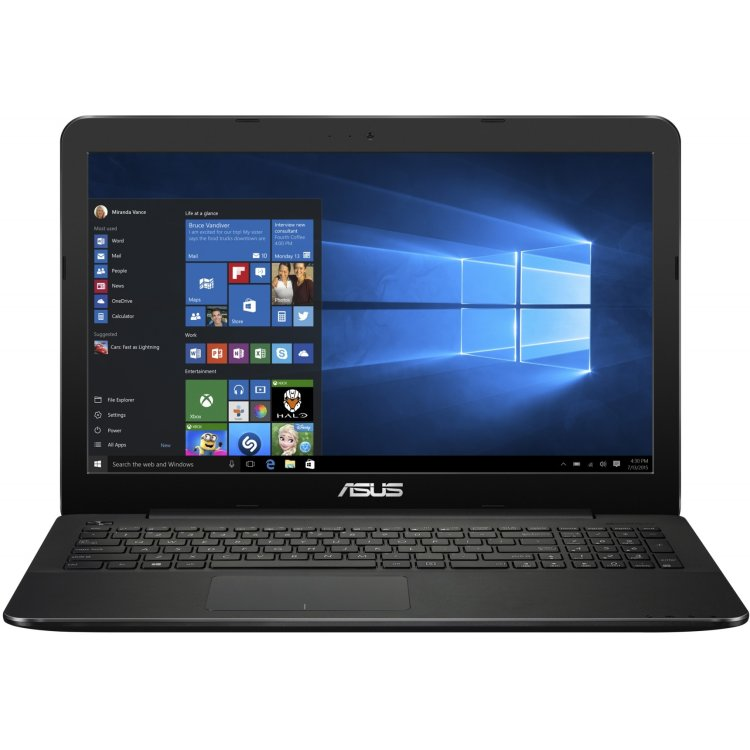 "Asus X555SJ-XO007T 15.6"", Intel Celeron, 1600МГц, 4Гб RAM, DVD нет, 500Гб, Черный, Wi-Fi, Windows 10, Bluetooth"