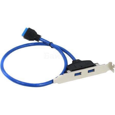 Greenconnect GC-20P2UF1 0.5м, USB, Синий