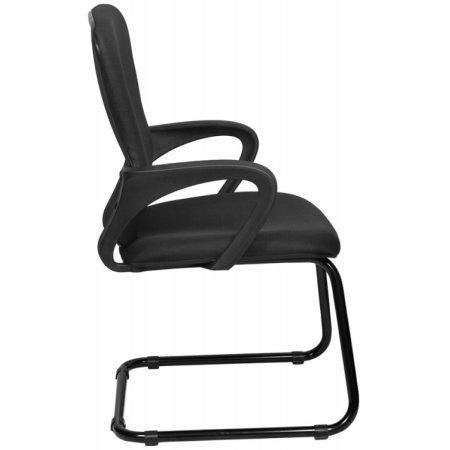 Кресло Бюрократ CH-818-Low-V/15-21 низкая спинка черный 15-21