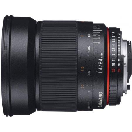Samyang 24mm f/1.4 ED AS UMC Sony E Sony E, Совместимость с полнокадровыми фотоаппаратами