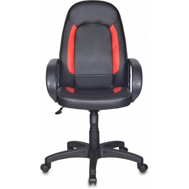 Кресло руководителя Бюрократ CH-826/B+R вставки красный сиденье черный искусственная кожа