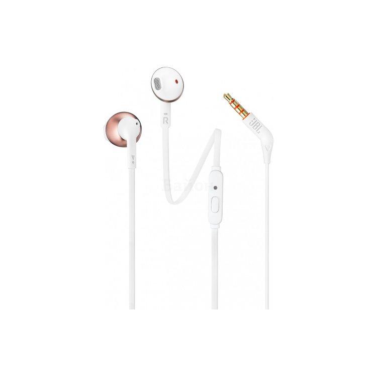 JBL T205RGD белые/розовое золото