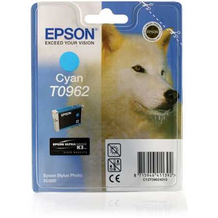 Epson T0962 Голубой, Картридж струйный, Стандартная, нет