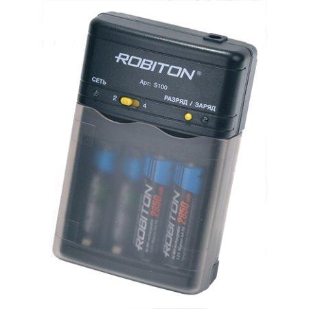Зарядное устройство Robiton SmartS100  унив. для  AA/AAA, компактное, интеллектуальное