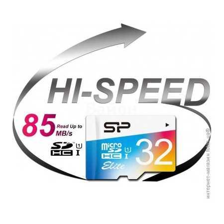 Silicon Power 32Gb microSDHC, 32Гб, Class 10