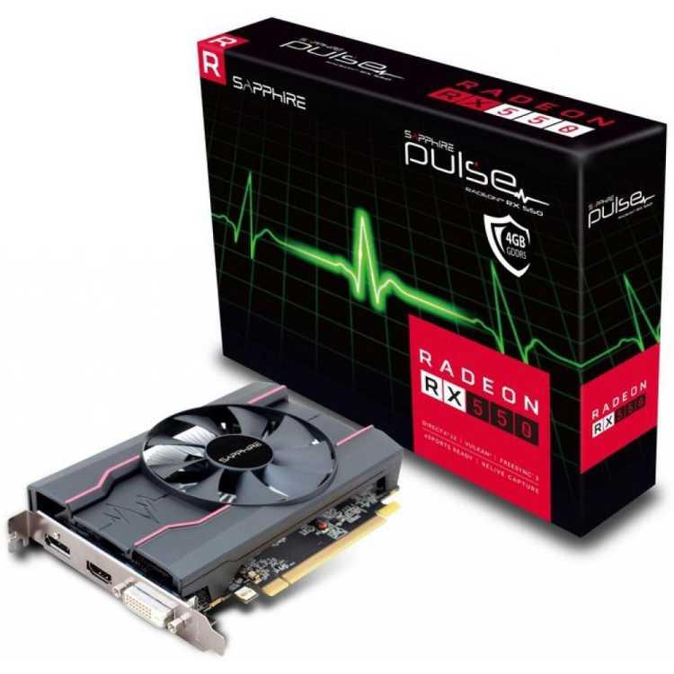 SAPPHIRE PULSE Radeon RX 550 2GD5 4096Мб, Retail