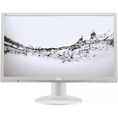 "AOC e2460Pq 24"", Белый, DVI, Full HD"